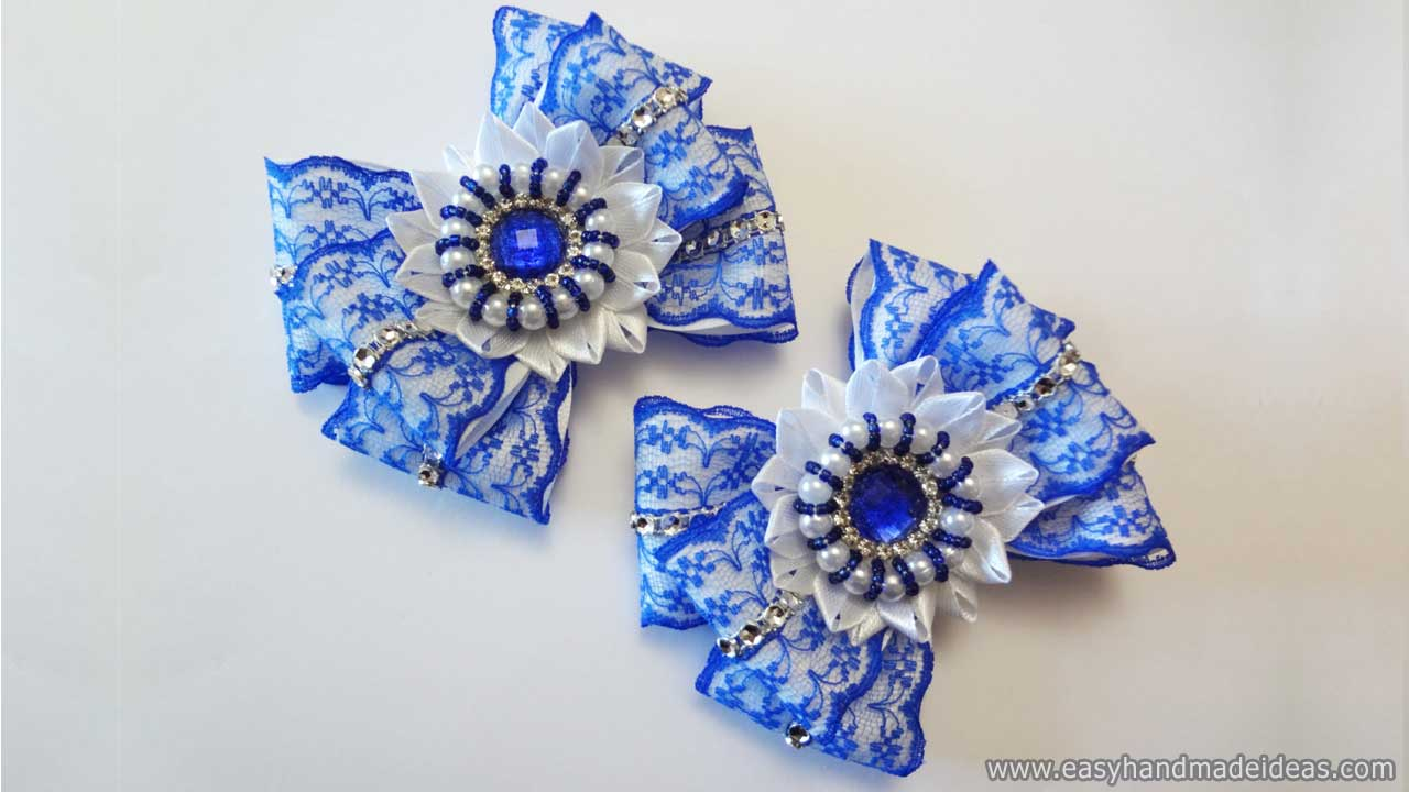 Kanzashi Bows with a Unique Center