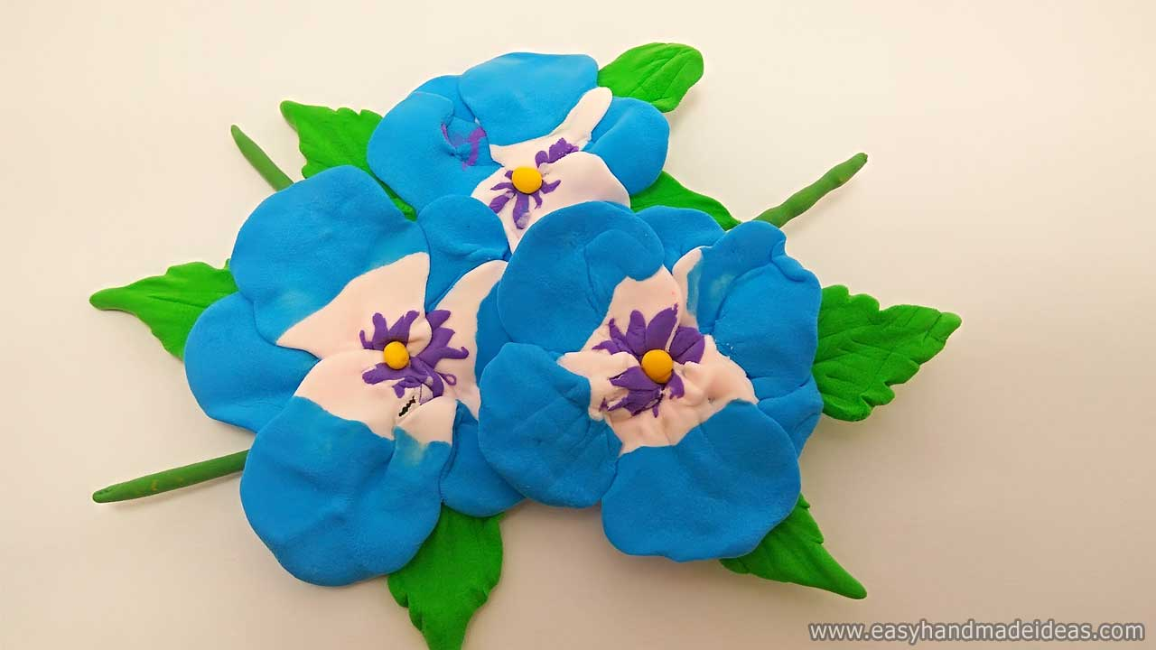 Final Image: Violets from Light Modeling Clay