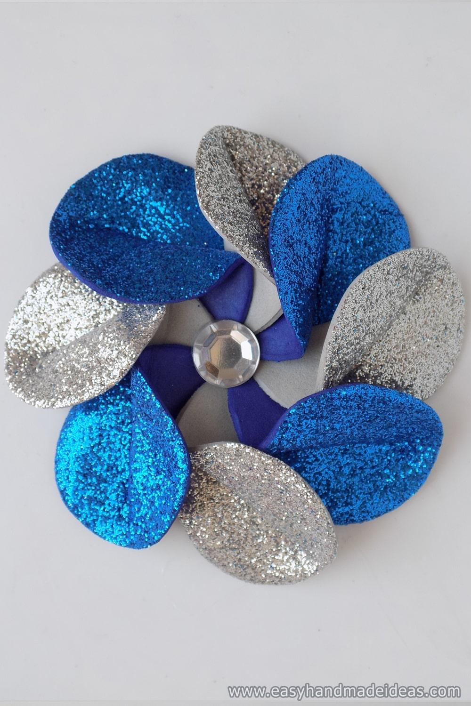 Flower Petals with Rhinestones