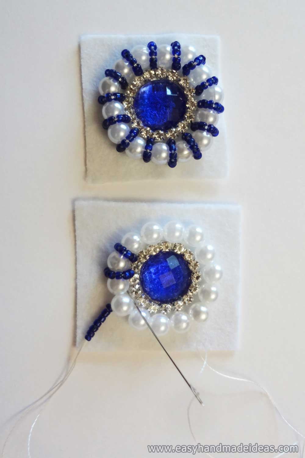Application of Blue Beads