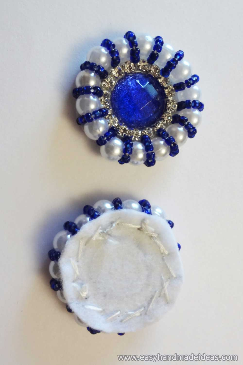 Application of all Blue Beads