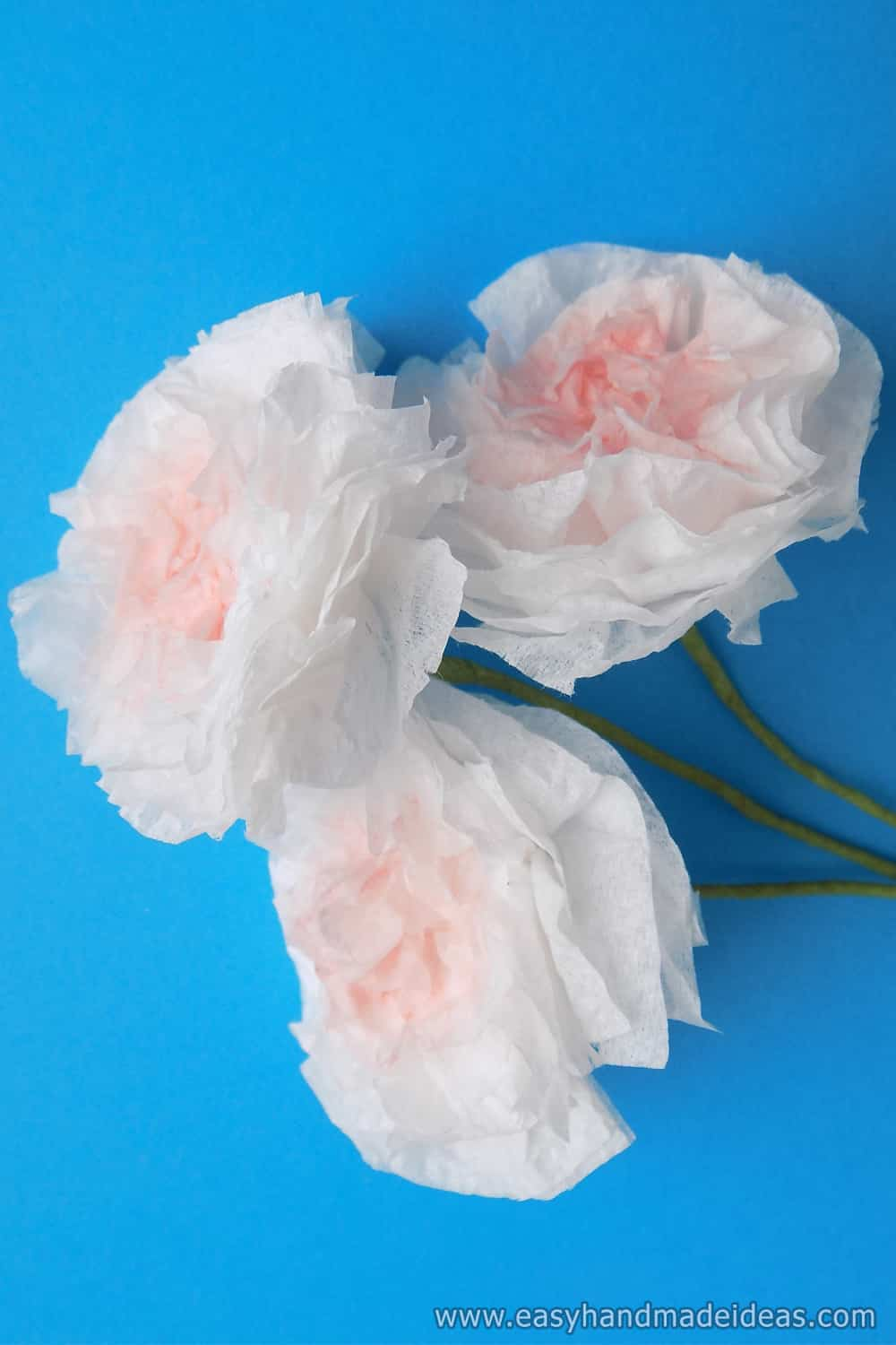 Made Flowers from Paper Napkins