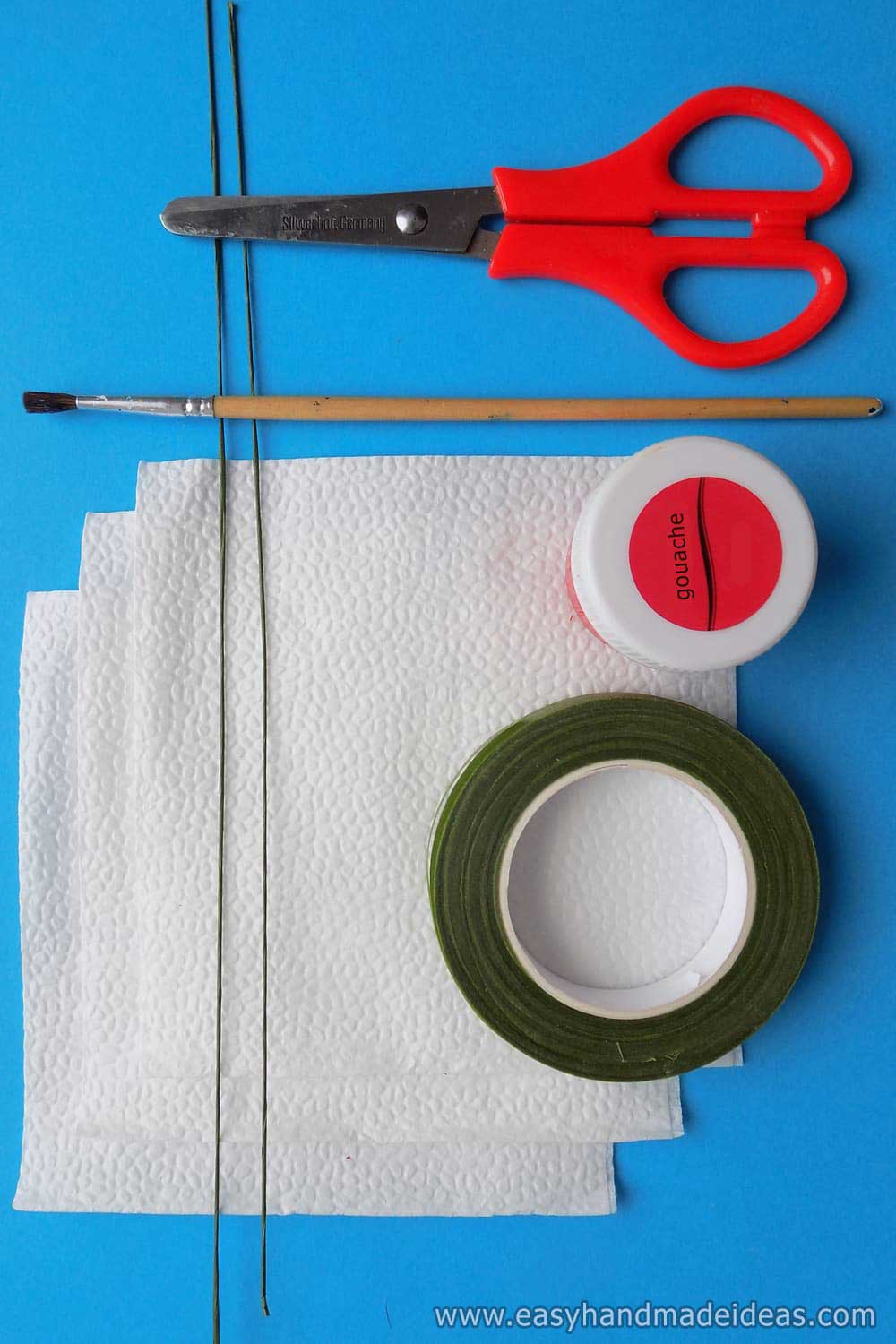 Tools and Materials for Paper Flower