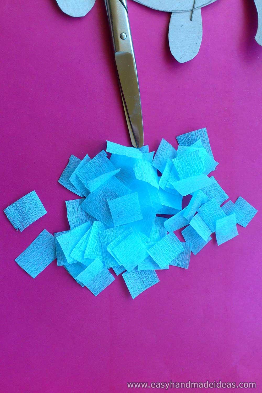 Squares of Crepe Paper