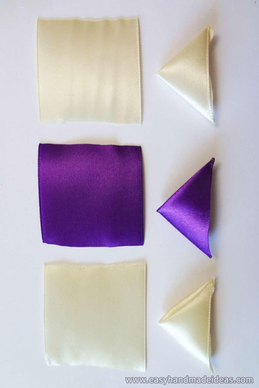 Cream and Purple Square Pieces