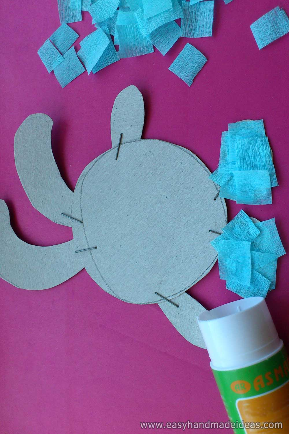 Gluing a Rabbit with Crepe Paper