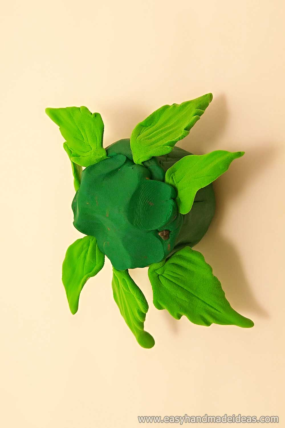 Leaves of Clay in a Flowerpot