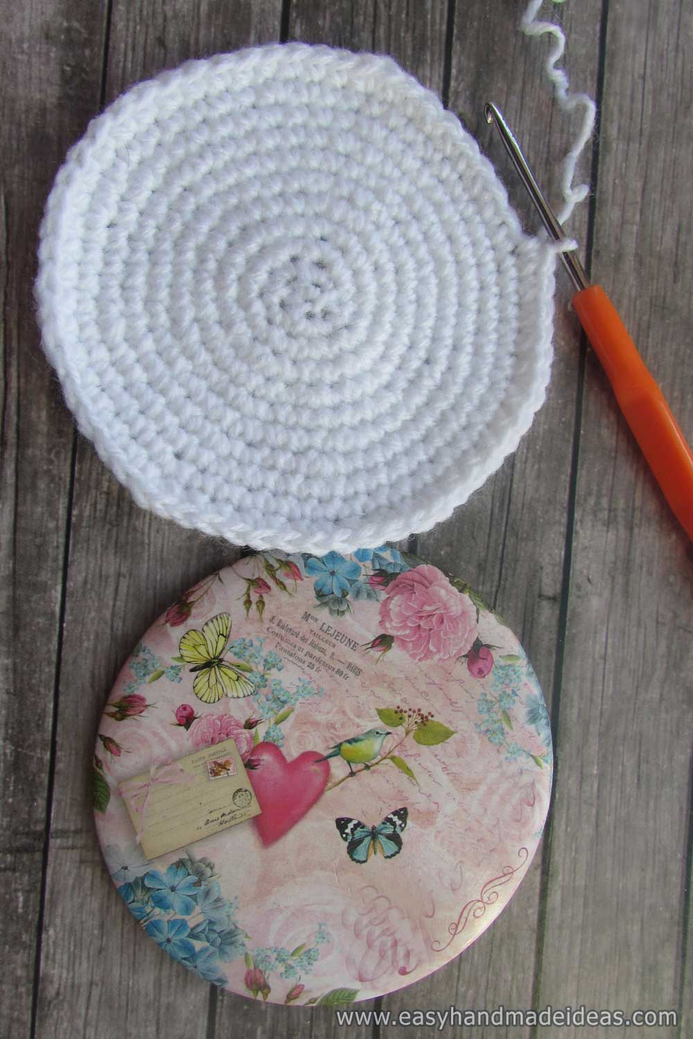 Crocheted Circle of White Thread