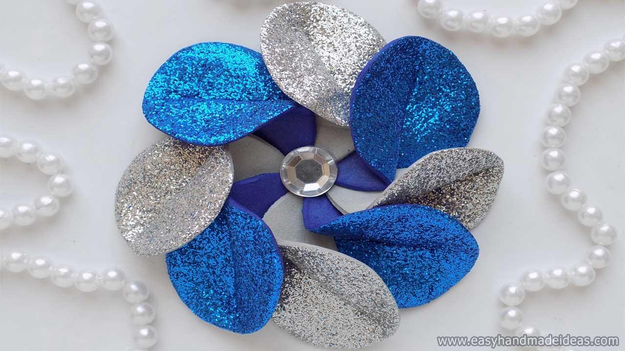 Flower of Foamiran with Unusual Petals