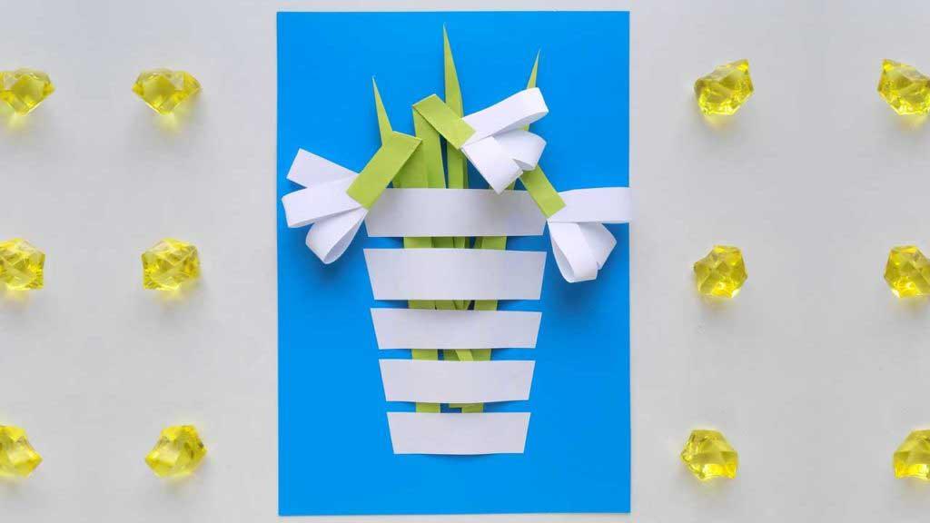 Snowdrop Paper Flower
