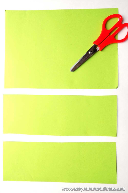 Cut Parts of Green Paper