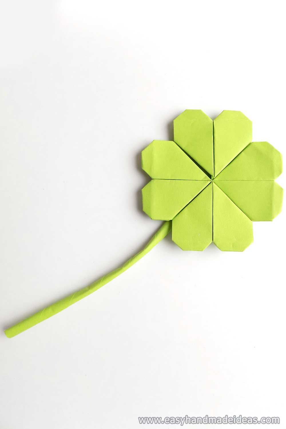 Four Leaf Clover from Paper