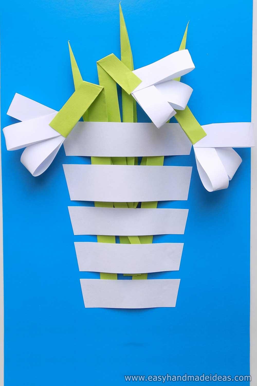 Paper Snowdrops in a Vase