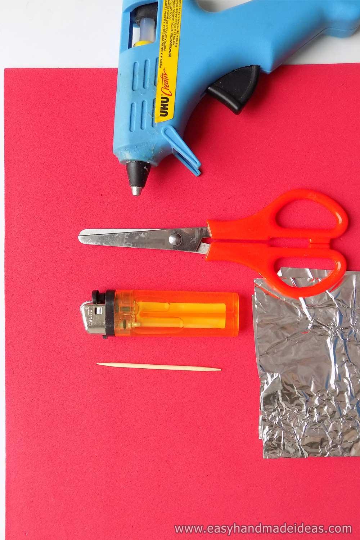 Materials and Tools for Foamiran Rose