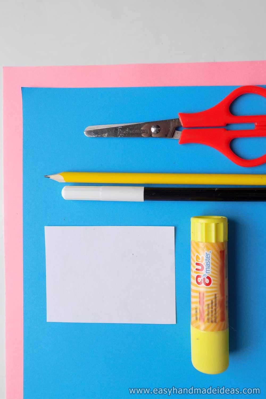 Materials for Handprint Bunny