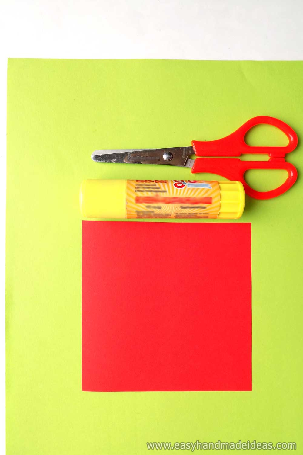 Tools and Materials for Paper Tulip