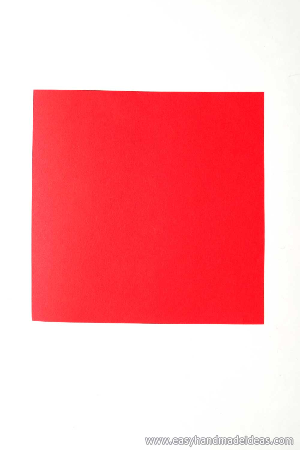 A Square of Red Paper