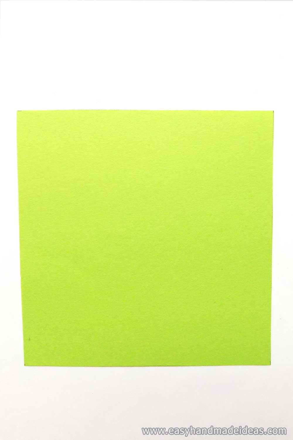 Square of Green Paper