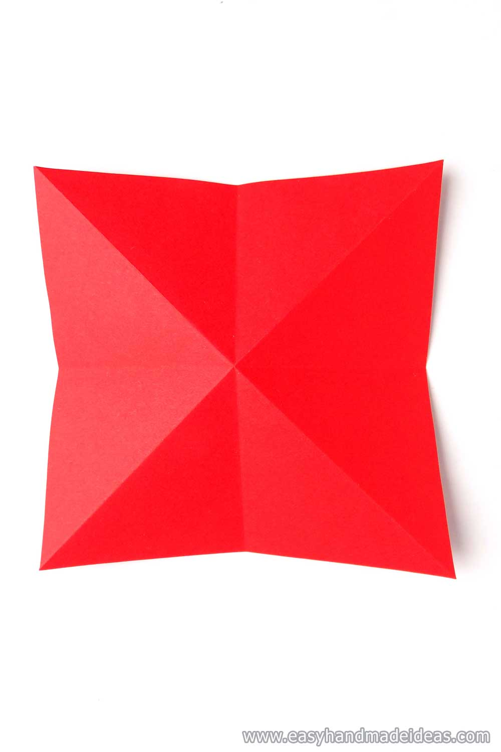 Square with a Bent Middle on the Diagonal