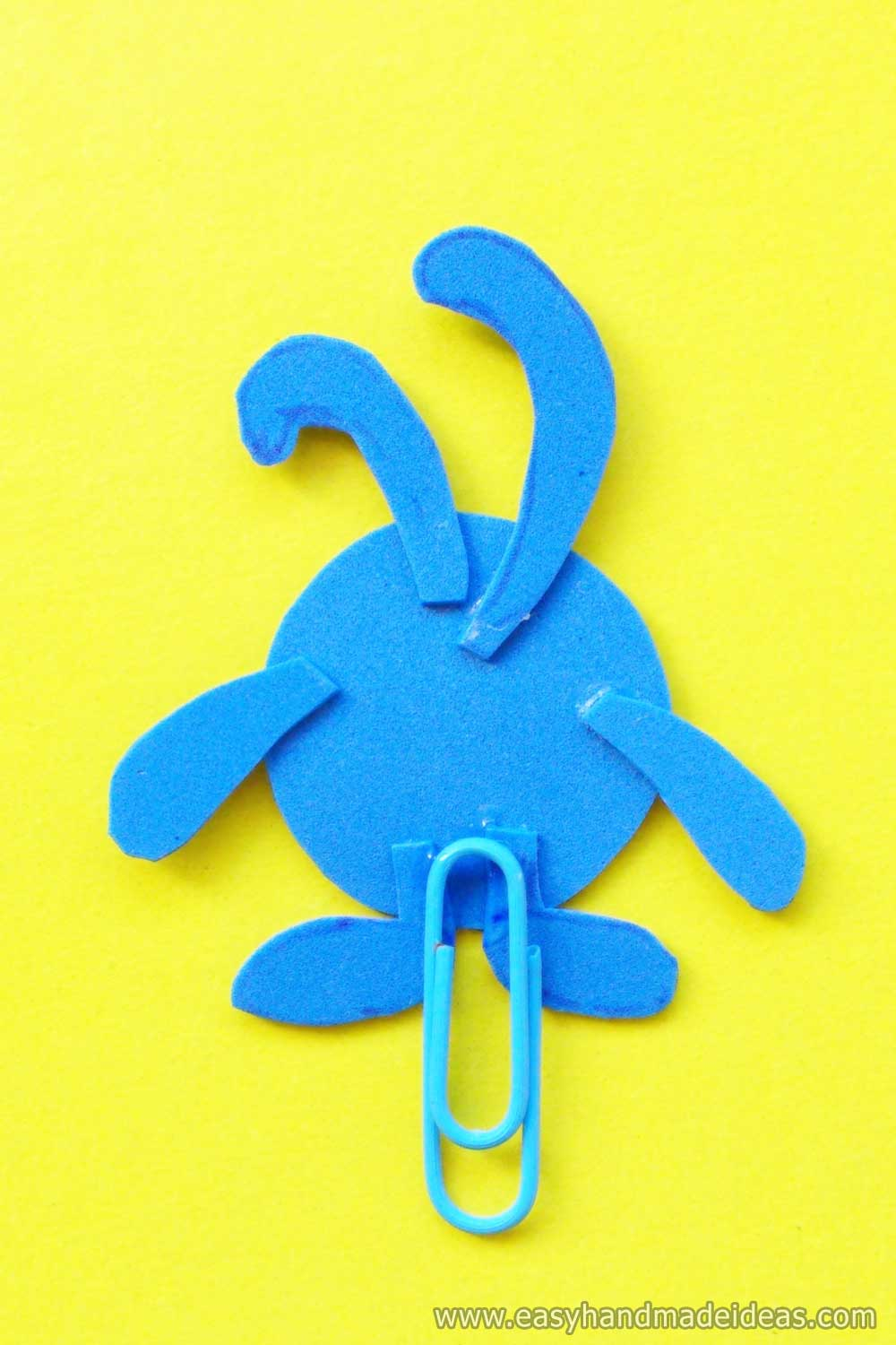 Glued Paper Clip with a Rabbit