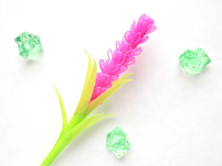 Hyacinth Flower from Drinking Straws