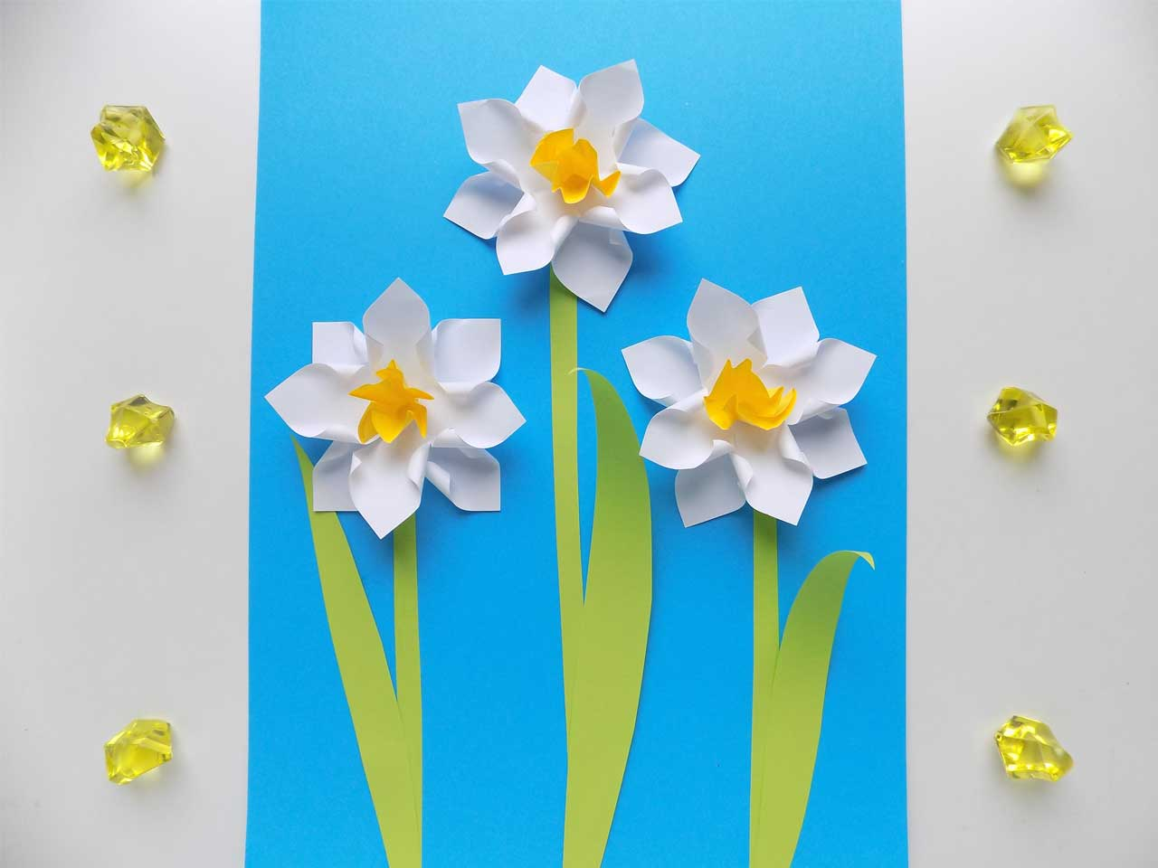 Paper Daffodil Flowers