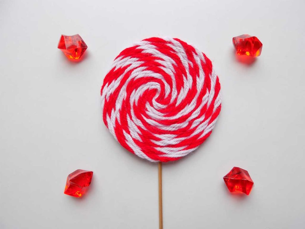 Yarn Lollipop Ornament