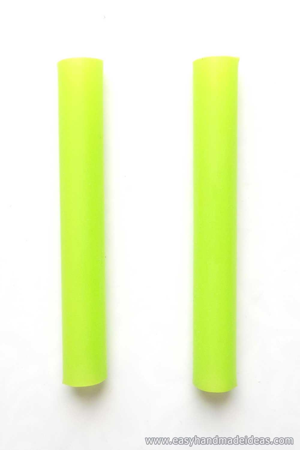Two Green Straws