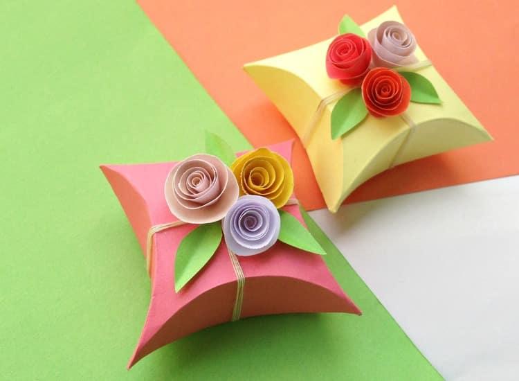 DIY Paper Gift Box Horizontal