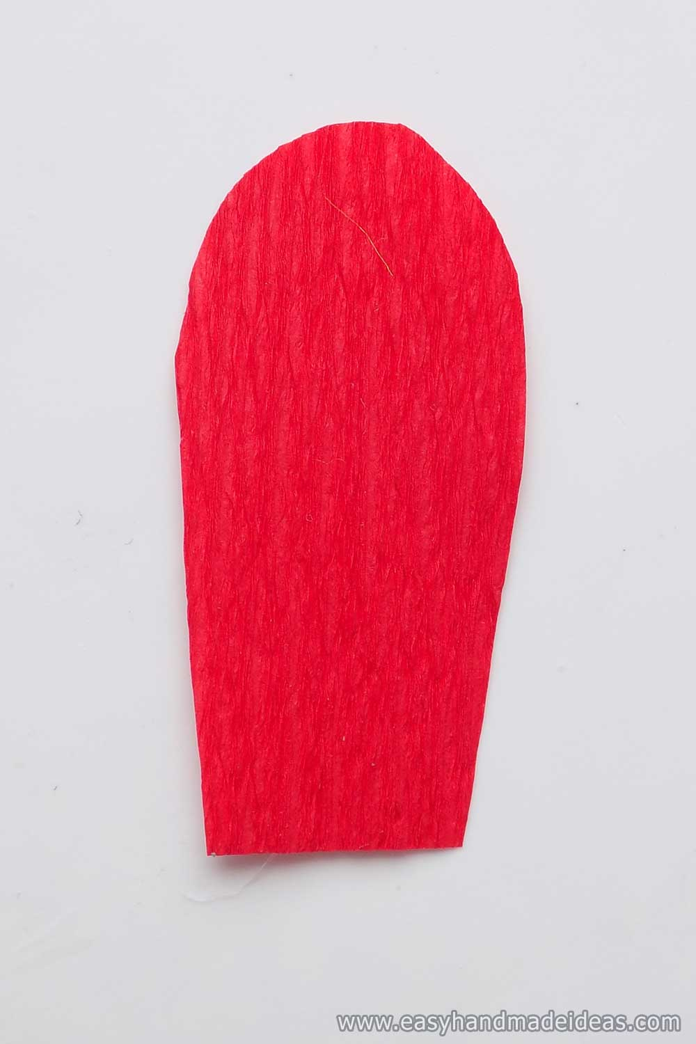 Rounded Sheet of Red Paper