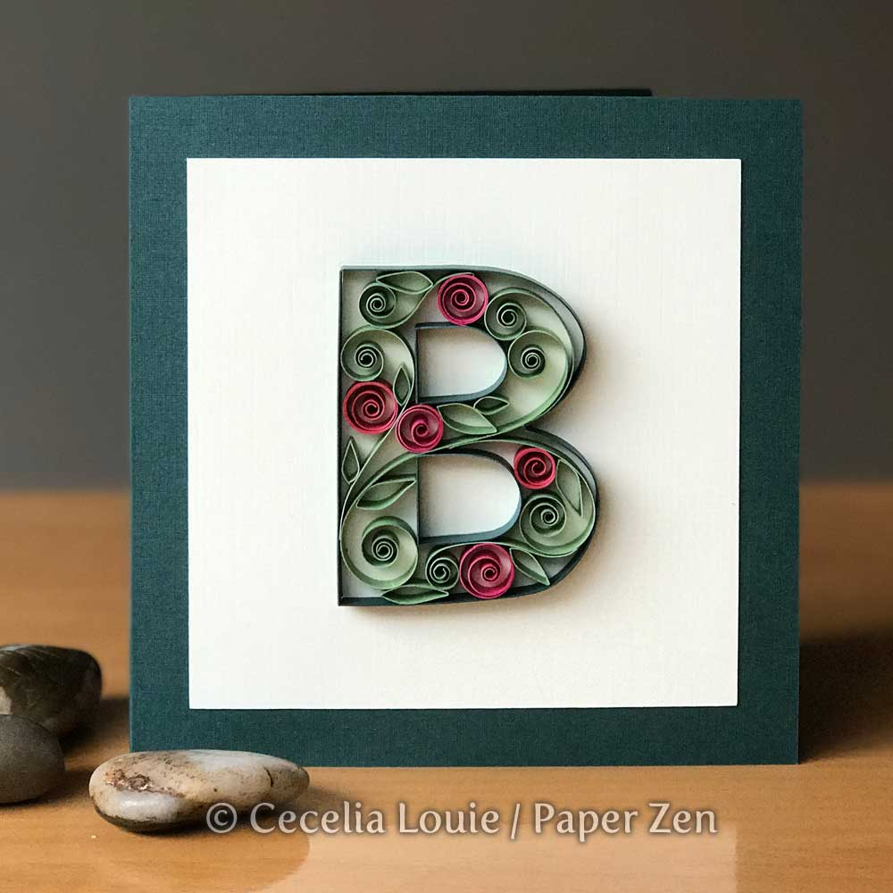 Quilling Letters Template Pattern B