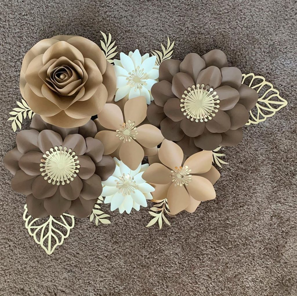 Flowers in Coffee Palette