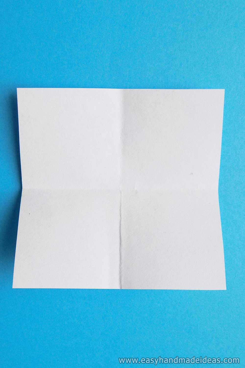 The Paper Square is Folded in Several Directions