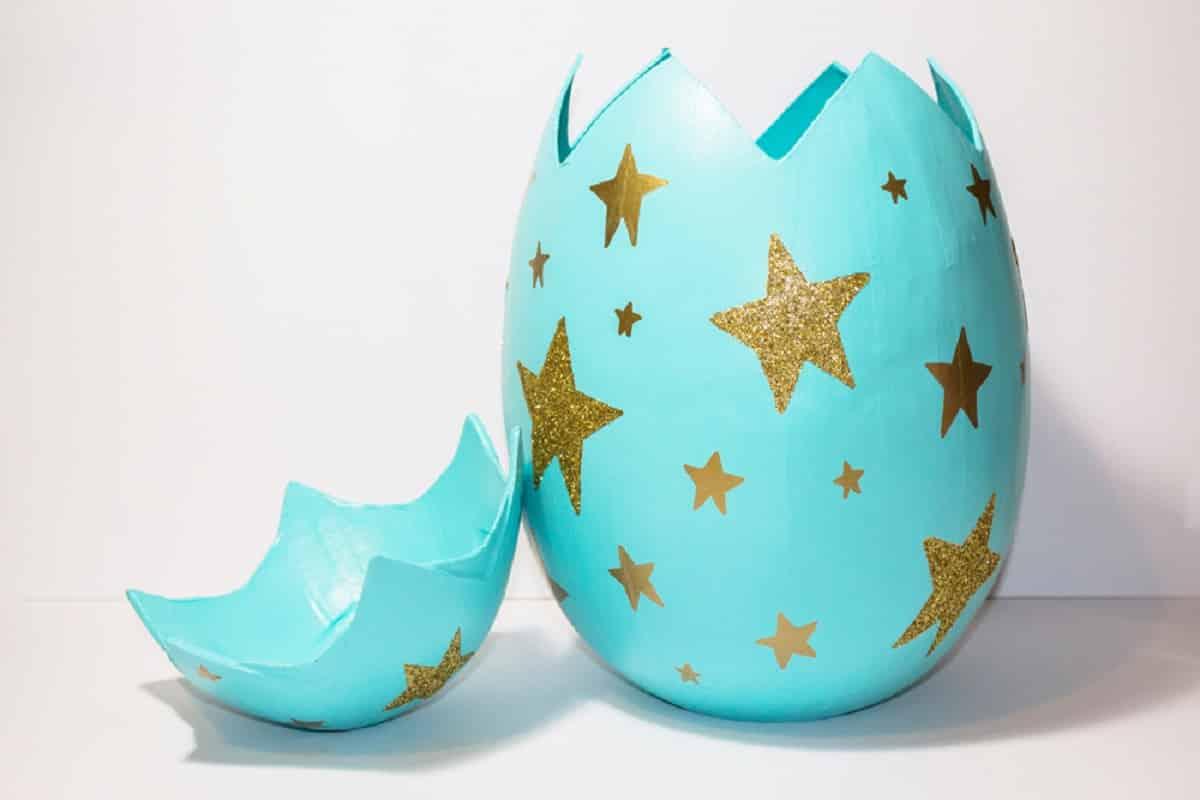 Giant Mache Egg Gift Box Idea