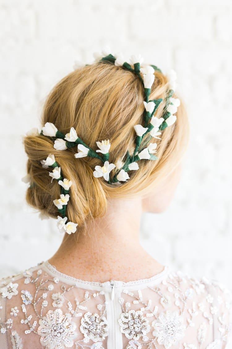 Paper Wedding Hairpiece