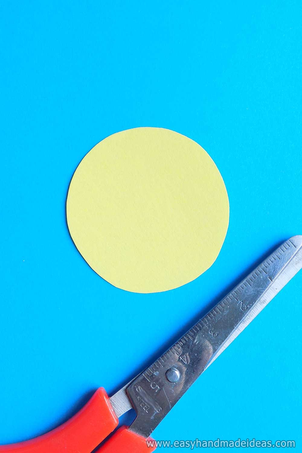 Circle of Yellow Paper